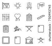 thin line icon set   shop... | Shutterstock .eps vector #750993745