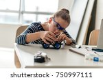 little scientist | Shutterstock . vector #750997111