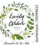 wedding invitation  floral... | Shutterstock .eps vector #750998611