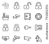 thin line icon set   factory... | Shutterstock .eps vector #751001551