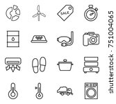 thin line icon set   circle... | Shutterstock .eps vector #751004065