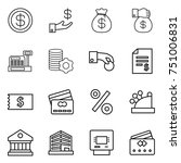 thin line icon set   dollar ... | Shutterstock .eps vector #751006831