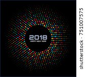 new year 2018 card background.... | Shutterstock . vector #751007575