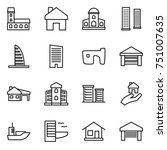 thin line icon set   mansion ... | Shutterstock .eps vector #751007635