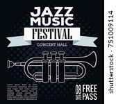 jazz musical festival flyer... | Shutterstock .eps vector #751009114