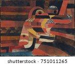 lovers  by paul klee  1920 ... | Shutterstock . vector #751011265