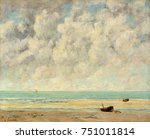 the calm sea  by gustave... | Shutterstock . vector #751011814
