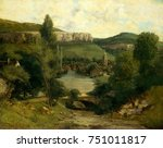 View Of Ornans  By Gustave...