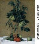 fruit  by julian alden weir ... | Shutterstock . vector #751011985