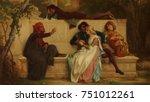 florentine poet  by alexandre... | Shutterstock . vector #751012261