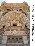 Small photo of Low angled view of external facade of Baron Empain Palace, Heliopolis district, Cairo, Egypt