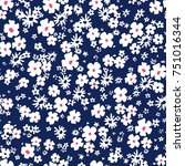 seamless floral pattern in... | Shutterstock .eps vector #751016344