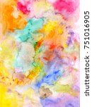 abstract watercolor colorful...   Shutterstock . vector #751016905