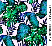 watercolor seamless pattern... | Shutterstock . vector #751021264