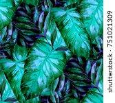 watercolor seamless pattern... | Shutterstock . vector #751021309