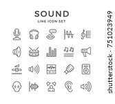 set line icons of sound... | Shutterstock .eps vector #751023949