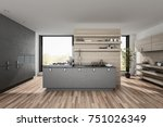 very large spacious luxury... | Shutterstock . vector #751026349