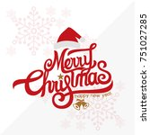 christmas vector background | Shutterstock .eps vector #751027285