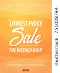 sale poster or flyer design.... | Shutterstock .eps vector #751028764