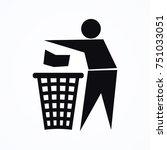 person rubbish icon | Shutterstock .eps vector #751033051