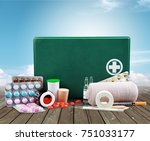 First Aid Kit  With Medical...