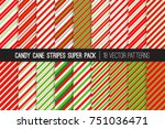 pack of christmas candy cane... | Shutterstock .eps vector #751036471