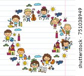 kindergarten school education... | Shutterstock .eps vector #751038949