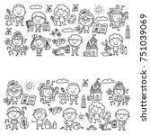 kindergarten school education...   Shutterstock .eps vector #751039069