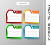 banners infographics template... | Shutterstock .eps vector #751039639