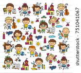kindergarten school education... | Shutterstock .eps vector #751041067