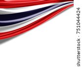 thailand  flag of silk with... | Shutterstock . vector #751044424
