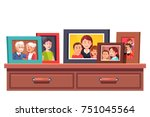 big family relatives portrait... | Shutterstock .eps vector #751045564