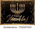 card for festival of lights ... | Shutterstock .eps vector #751047319