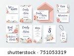 wedding invite  invitation menu ... | Shutterstock .eps vector #751053319