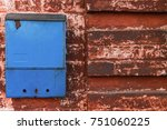 Mailbox Bright Blue Color On A...