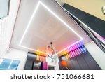 vinyl stretch ceiling | Shutterstock . vector #751066681