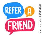 refer a friend. vector three...   Shutterstock .eps vector #751068949
