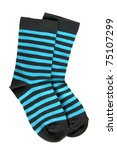 Pair Of Child's Striped Socks...