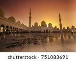 beautiful evening at sheik... | Shutterstock . vector #751083691