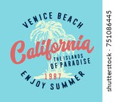 california typography  t shirt ...   Shutterstock .eps vector #751086445