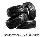 winter car tires. group of... | Shutterstock . vector #751087345