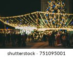 people have christmas... | Shutterstock . vector #751095001