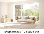 idea of white room with sofa... | Shutterstock . vector #751095145