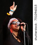 Small photo of Bestival - 8th September, 2017: Caron Wheeler with British band Soul ll Soul performing at Bestival festival , Lulworth, Dorset 8 September 2017, UK