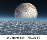 moon above heavenly clouds | Shutterstock . vector #7510969