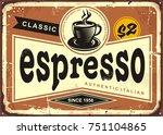 authentic italian espresso...   Shutterstock .eps vector #751104865