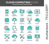 cloud omputing. internet... | Shutterstock .eps vector #751113097