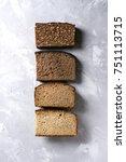 variety loaves of sliced... | Shutterstock . vector #751113715