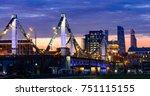moscow krymsky bridge or... | Shutterstock . vector #751115155