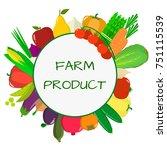 vegetables icons set in... | Shutterstock . vector #751115539
